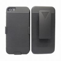 Cases for iPhone 5, with Swivel Kickstand and Belt Clip Manufactures
