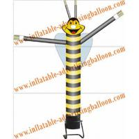 Advertising Single Leg Inflatable Air Dancer 6M , Yellow Bee Sky Dancer For Fair Manufactures