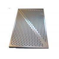 China 3mm SS Round Hole Perforated Metal Panels For Wall Panelling With Floding Edge on sale