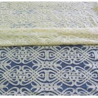Voile Yellow Cotton Nylon Lace Fabric Eco-friendly Dyeing For Curtain Decoration CY-DK0035 Manufactures