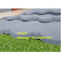 China Flexible Black Classic Stone Coated Steel Roof Tiles 0.45mm Thickness In Kenya on sale