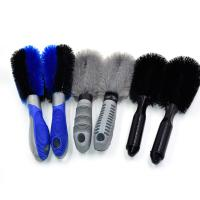 Care Detailing Rim Car Wash Brush , Bicycle Car Tire Brush Easy To Use Manufactures