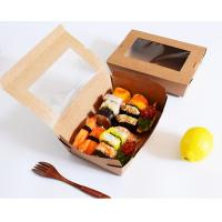 Sushi Compostable Food Safe Cardboard Boxes With Window Customized Logo Manufactures