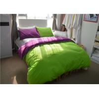Green 100% Dyeing Cotton 200TC Student Dorm Bed Sheets For Children / Adult Manufactures