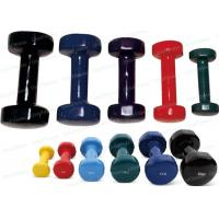 China Cast Iron 5 Pound Dumbbells And Barbells Vinyl Coated Fixed Lightweight on sale