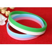 Quality 12mm Width Custom Silicone Rubber Wristbands Short Production Time OEM Design for sale