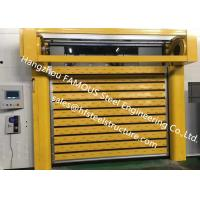 China Aluminum Extrusion Profiles Fire Rated Roller Door Fireproofing Lift Door With Electric Openers on sale