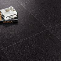 Black Unglazed Pure Color Porcelain Tiles 600x600mm Rustic Kitchen Floor Tiles Manufactures