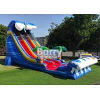 Giant Inflatable Water Slides For Adult , Commercial 24′ Shark Sighted Dual Lane Slide , Manufactures