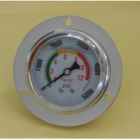China 60mm stainless steel oil filled pressure gauge with back brass connector on sale
