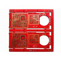 Buy cheap Red Soldermask HAL FR-4 Multilayer PCB Board with Immersion Gold from wholesalers