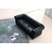 European Style Leather Sofa Black Modern Genuine Leather Sofa Classic Contemporary Sofa Manufactures