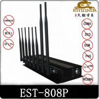 15W 4G WIFI Cell Phone Signal Jammer / Blocker Black For Auditoriums Manufactures