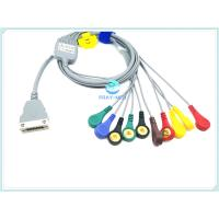 Compatible Beneware ECG Patient Cable , 12 Lead ECG Cable With TPU Material Manufactures