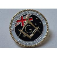 3D Brass Stamping AF & AM Lapel Pin, Rope Edge Soft Enamel Pin with Gold Plating Manufactures