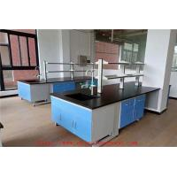 3000 MM Greyh Length Chemistry Lab Furniture / Pharmaceutical Lab Bench Table Manufactures