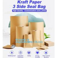 China Custom Food Nuts and bread package recyclable kraft paper bag,Bread Use and Food Industrial Use paper bags french bread on sale