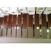 China Room Partition Wall , Office Operable Partition Wall 85MM Melamine Panel on sale