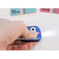 Factory supply cartoon character pvc plastic key cover with led light Manufactures