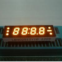 0.25 Inch Yellow Four Digit 7 Segment LED Clock Display , Small Current Drive Manufactures