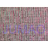 Pink Color Metal Glass Laminated Wire Mesh Fabric For Decoration Design Manufactures