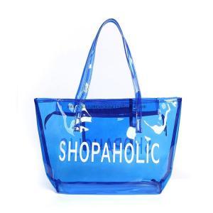 China Colorful Plastic PVC Handle Shopping Bag 0.15~0.8mm Thickness Custom Printing on sale