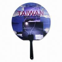 Round Hand Fans with CMYK Design on Both Sides Manufactures