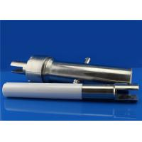 Custom Polished Ceramic Plunger Rod / Shaft with metal sleeve head Manufactures