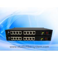 Buy cheap 8CH Unidirectional  AES EBU digital audio fiber converter over ST/LC/FC fiber extending audio to 20~80KM from wholesalers