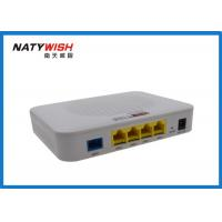 Wireless 4 Ports FTTX ONT , Plastic Shell EPON ONU Less Power Consumption Manufactures