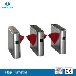 Automatic Pedestrian Entrance Access Control UT560-B Brushless Flap Turnstile Manufactures