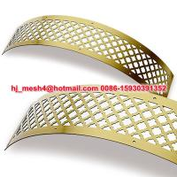 China Curved Perforated metal Grilles/Curved Grilles on sale