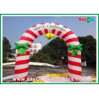 PVC Inflatable Holiday Decorations , Party Inflatable Christmas Arch Manufactures