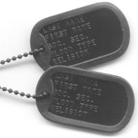 China Army Stainless Steel Dog Tags on sale