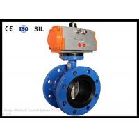 China Wafer Butterfly Valve Actuator , Flange Butterfly Valve Pneumatic Actuator on sale