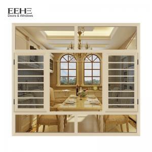 China Champagne Modern Aluminum Casement Windows High Temperature Resistant on sale