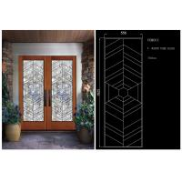 Sliding Glass DoorHollow Stained Glass Panels Air / Argon Insulating Manufactures