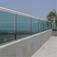 Quality Customized interior railing tempered glass u channel railing system for sale