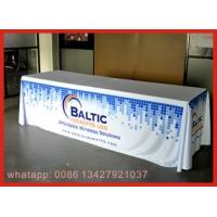 Red Color Elastic Stretch Spandex Tablecloths , Tension Fabric Trade Show Displays Manufactures