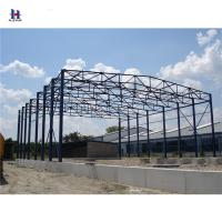 Buy cheap Q235 larege span  Wellcamp Prefabricated Hangar with Sliding Hangar Door from wholesalers