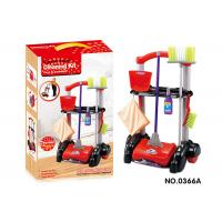 China Cleaning Kit Trolley W / Working Vacuum Children's Play Toys Pretend Play Mop Broom on sale