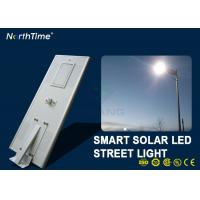 7000K 80 W Solar Powered LED Street Lights With Lithium Battery Motion Sensor Manufactures