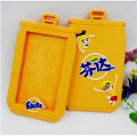 China Wholesale Lovely Fenta Embossed Silicone Card Holder/ Students Meal Card Soft PVC Hang Tag on sale