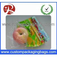Food Grade Fruit Packaging Bags With Handle Hole For Supermarket Manufactures