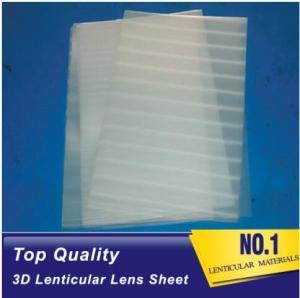 Plastic Lenticular super transparent thin161lpi 0.25mm PET 3d lenticular lens plastic sheet film for UV offset prining Manufactures