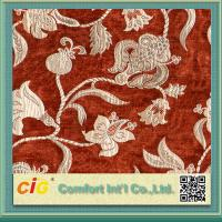 Customized Vintage Sofa Upholstery Fabric , Polyester Acrylic Chenille Fabrics Multicolor Manufactures