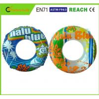 Machine Printing Swimming Float Ring , Inflatable Pool Rings For Adults 0.25mm Thickness Manufactures