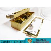 Double-Layer Metal Chip Tray / Poker Chip Holder 680 * 210mm Manufactures
