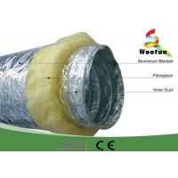 Fireproof 20 Rigid Hvac Duct Insulation Wrap Aluminum Foil Stretchable Easy Installation Manufactures