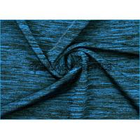 China Cotton Touch Yarn Space Dyed Jersey Knit Fabric Plain For Sports on sale